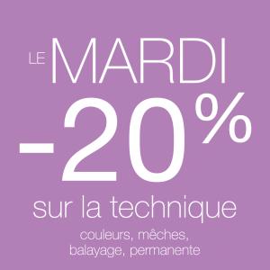 -20% sur votre prestation - Maximilien Coiffure